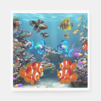 Aquarium Sealife Disposable Napkins