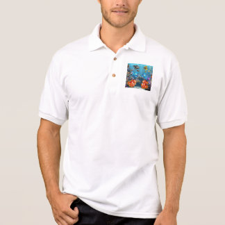 Aquarium Sealife Style Polo Shirt