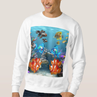 Aquarium Sealife Style Sweatshirt