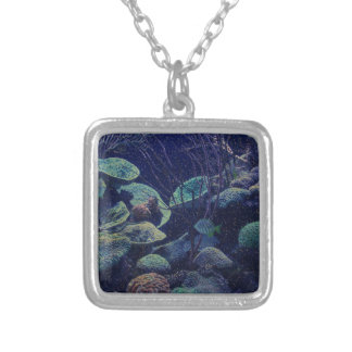 Aquarium Silver Plated Necklace