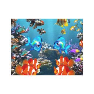 Aquarium Style Canvas Print