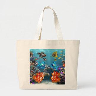 Aquarium Style Large Tote Bag