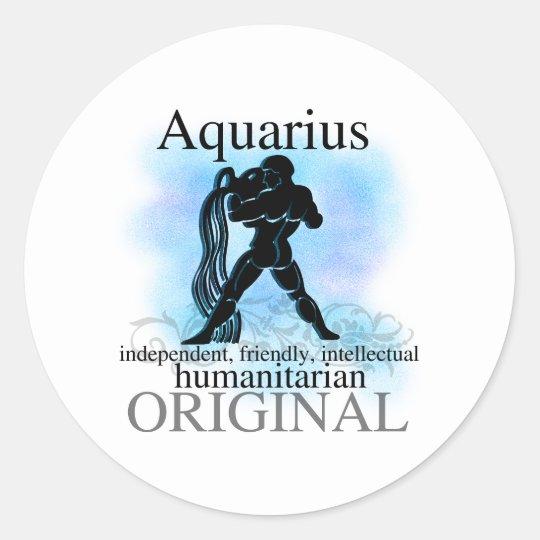 Aquarius About You Classic Round Sticker