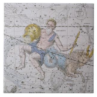 Aquarius and Capricorn, from 'A Celestial Atlas', Ceramic Tiles