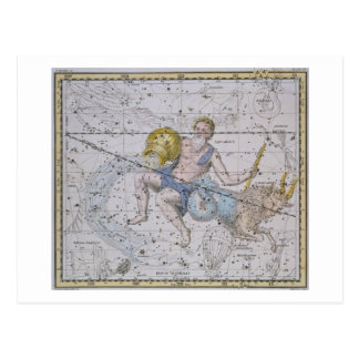 Aquarius and Capricorn, from 'A Celestial Atlas', Postcard
