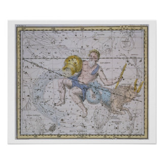 Aquarius and Capricorn, from 'A Celestial Atlas', Poster