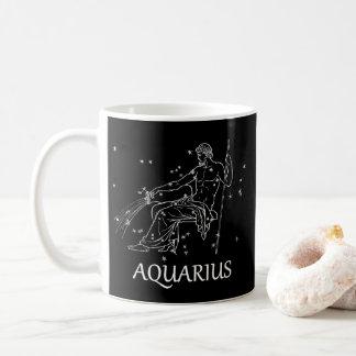 Aquarius Astrology Constellation Traits Black Mug