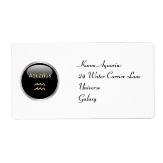 Aquarius astrology personalised address labels