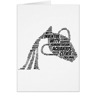 Aquarius Astrology Zodiac Sign Word Cloud Card