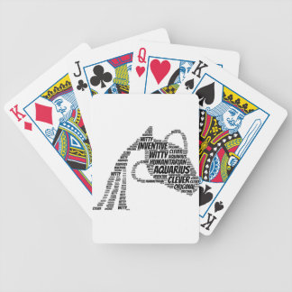 Aquarius Astrology Zodiac Sign Word Cloud Poker Deck