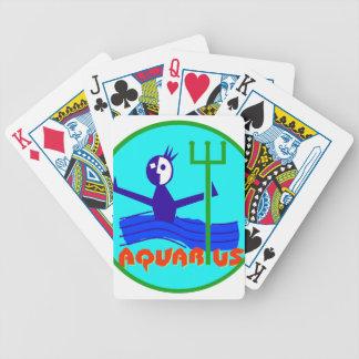 Aquarius Badge Poker Deck