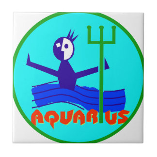 Aquarius Badge Tile