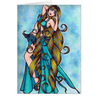 Aquarius Belly Dancer Card