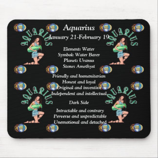 Aquarius Birth Sign Zodiac Mouse Pad