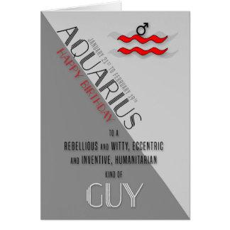 Aquarius Birthday for Him January 21st to February Card
