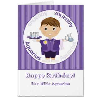Aquarius Boy - Happy Birthday Card