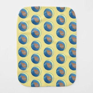 Aquarius Burp Cloth
