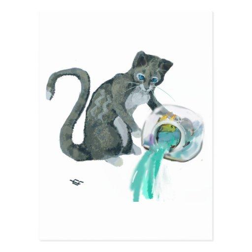 Aquarius Cat Postcards