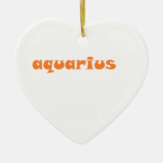 aquarius ceramic heart ornament