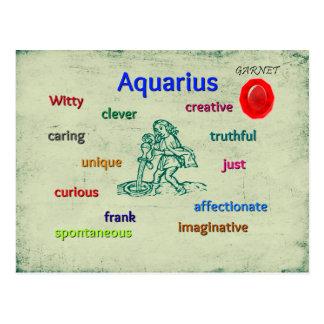 Aquarius characteristics zodiac card