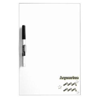 Aquarius chrome symbol dry erase board