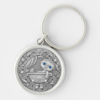Aquarius Coin key chain