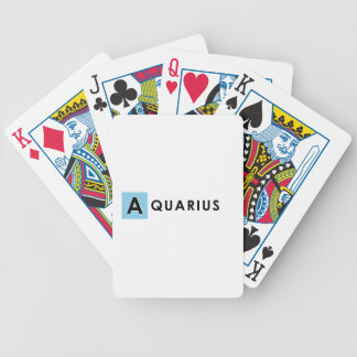 AQUARIUS COLOR BICYCLE PLAYING CARDS