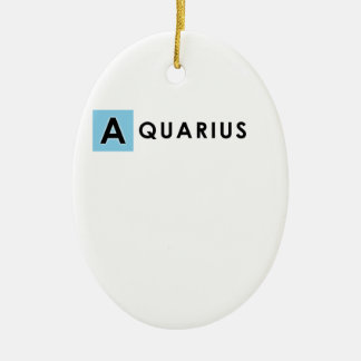 AQUARIUS COLOR CERAMIC ORNAMENT
