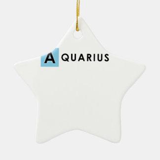 AQUARIUS COLOR CERAMIC STAR ORNAMENT