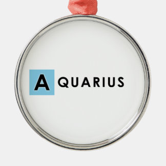AQUARIUS COLOR METAL ORNAMENT