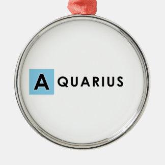 AQUARIUS COLOR Silver-Colored ROUND ORNAMENT