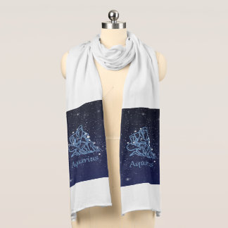Aquarius Constellation and Zodiac Sign with Stars Scarf