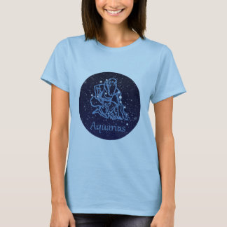 Aquarius Constellation and Zodiac Sign with Stars T-Shirt