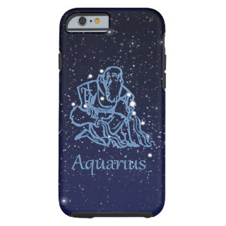 Aquarius Constellation and Zodiac Sign with Stars Tough iPhone 6 Case
