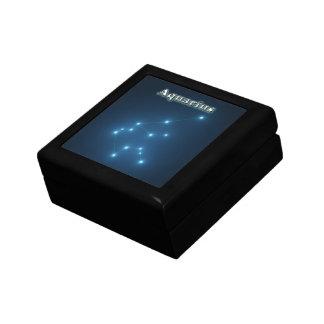 Aquarius constellation gift box