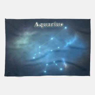 Aquarius constellation kitchen towel