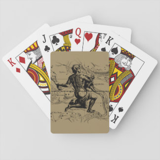 Aquarius Constellation Map by Hevelius Playing Cards