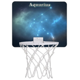 Aquarius constellation mini basketball hoop