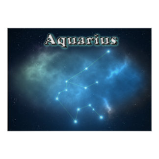 Aquarius constellation poster