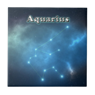 Aquarius constellation tile
