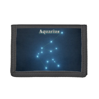 Aquarius constellation trifold wallets