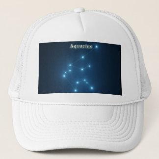 Aquarius constellation trucker hat