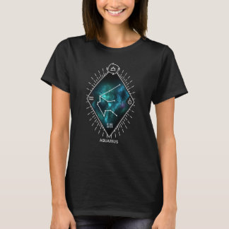 Aquarius Constellation & Zodiac Symbol T-Shirt