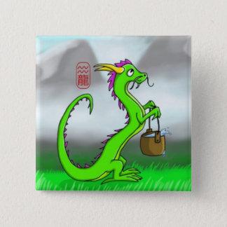 Aquarius/Dragon 2 Inch Square Button