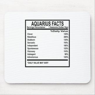 AQUARIUS FACTS DISCRIPTION . MOUSE PAD