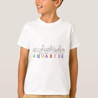 AQUARIUS FINGERSPELLED ASL ZODIAC SIGN T-Shirt