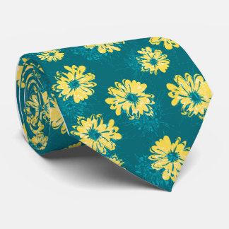 Aquarius Floral Vintage Single-side Printed Tie