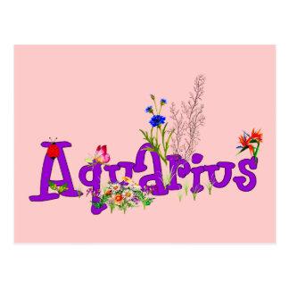 Aquarius Flowers Postcard