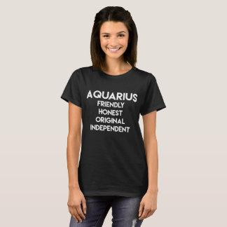Aquarius Friendly Honest Original Independent T-Shirt
