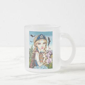 Aquarius Frosted Glass Coffee Mug